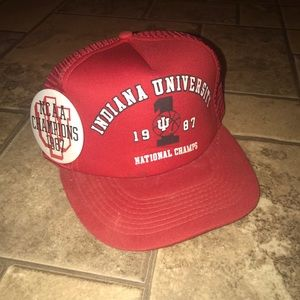 Vintage 1987 Indiana National Champs Trucker Hat